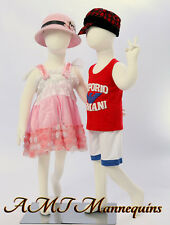 Two same child Mannequins, abt 3 years old, 2 flexible manikins-R6