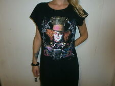 ALICE IN WONDERLAND PAJAMA NIGHT SHIRT Sleep Long JOHNNY DEPP Disney Movie