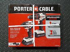 Porter Cable PCCK618L2 20 Volt Max Brushless Drill Driver & Impact Driver Kit