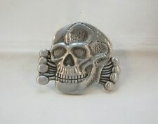 Outlaw Biker 1%er Original Death Head  Pin