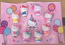 2014 McDonald's Display Hello Kitty 40th Anniversary Birthday Set 8 Happy Meal