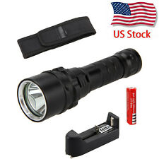 2000 Lumen Scuba Diving CREE XM-L L2 LED Flashlight Torch Waterproof Light 18650