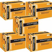 50 DURACELL INDUSTRIAL AA BATTERIES PROFESSIONAL ALKALINE REPLACES PROCELL AA