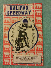 SPEEDWAY PROGRAMME HALIFAX v POOLE  24th SEPT 1977  13th SEASON  30th MEETING