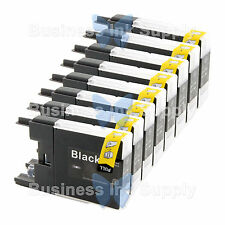 8 BLACK LC71 LC75 NON-OEM Ink for BROTHER MFC-J430W LC-71 LC-75 LC71BK LC75BK