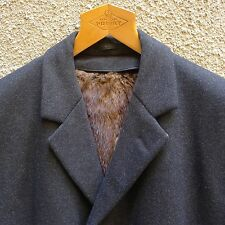 Wintermantel Schurwolle anthrazit Herren mit herausnehmbarem Bisampelz Gr. 26/52