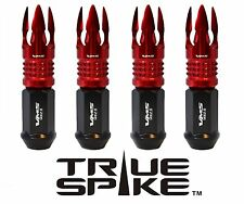 "20 VMS RACING 101MM 9/16"" FORGED STEEL LUG NUTS W/ RED POSEIDON SPIKES"