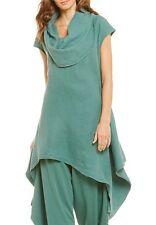 Nwt Bryn Walker Terrarium Green Linen Noa Tunic Cowl Neck Asymmetrical Top S