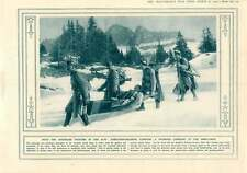 1916 Stretcher Bearers Carrying Wounded To Ambulance Austria Tyrol