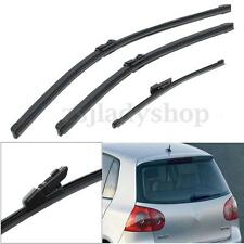 Front & Rear Window Windshield Wiper Blades For 2008-2014 VW Golf Mk6 Hatchback