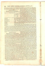 SCOTCH-IRISH IMMIGRATION TO AMERICA  NILES WEEKLY 1816 NEWS