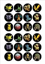 Pokemon Edible Fairy Cup Cake Decoration Toppers Rice Paper x 24