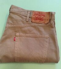 LEVI'S 501 BEIGE JEANS SIZE 40 X 30 RED TAB VGC SEE DESCRIPTION
