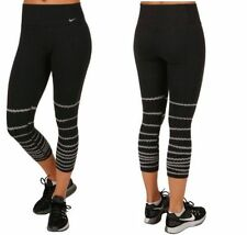 Nike Women's Legend Burnout Tight Fit Training Capri's Black XS 725095 $70 NEW