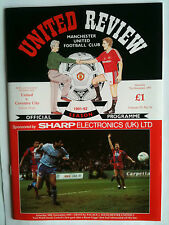MINT 1991/92 Manchester United v Coventry City 1st Division with Token