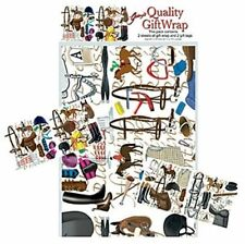 New Quality Horse Pony Sports Themed Gift Wrap Set 2 sheets and 2 tags