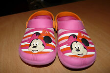 GIRLS DISNEY EMBOSSED MINNIE MOUSE CROCS -  PINK & ORANGE - FROM DISNEY WORLD