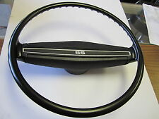 1971 1972 71 72 CHEVELLE NEW BLACK SS STEERING WHEEL KIT