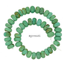 """Natural Chinese Turquoise Rondelle Beads 8mm 8"""" #82060"""