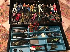 "Vintage G.I. Joe, ""A Real American Hero""  Large Loose Lot Action Figures W/ Case"
