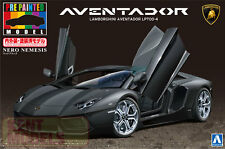 AOSHIMA 1/24 SCALE LAMBORGHINI AVENTADOR LP700-4 MATTE BLACK PLASTIC MODEL KIT