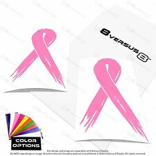 2x Distressed Awareness Ribbon Car Vinyl Decal Sticker Breast Cancer Leukemia