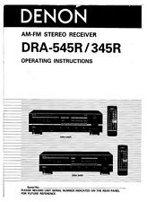 Denon DRA-545R Receiver Owners Manual