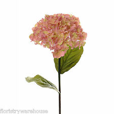 Artificial Hydrangea Stem Vintage Pink 68cm/26.75 Inches