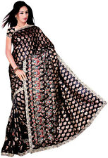 Seller Discount Bollywood Wedding Jaccard Sequin Sari Saree VENTRE DANSE ROBE NW