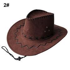 Kid's Jazz Bull Rider Suede Cowboy Western Montana Travel Hat Sunhat Dark Coffee