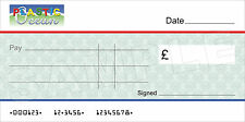 Large BLANK COMPANY CHEQUE for Charity / Presentation / Fundraising