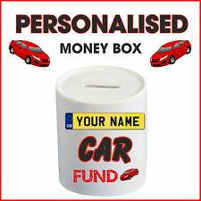 Personalised Buying New Car Money Box Piggy Bank Saving Any Name Fund Pass Gift