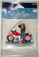 Lemax Carole Towne Christmas Village Road Rebel Motorcycle & Rider ~ NIB