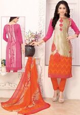 Elegant Crepe Designer Printed Unstitched Dress Material Suit D.No SFD11016