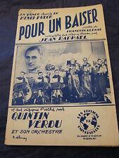 Partition Pour un baiser Jean Raphael Quintin Verdu 1959 Music Sheet