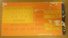1987 MADONNA HOUSTON TEX. CONCERT TICKET STUB WHO'S THAT GIRL TOUR LIKE A VIRGIN