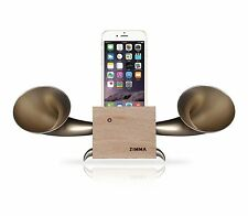 Apple iPhone series Loudspeaker.Docking stand.Horn stand.Wood+Golden