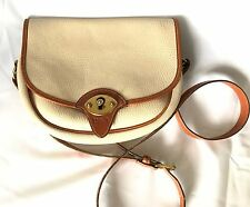 Vintage Dooney & Bourke Large R 71 Cavalry Flap Front Crossbody Bag All Weather