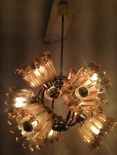 Massive Sputnic Chandelier 60s Glass Brass Murano Orbit Lamp Sunball Design