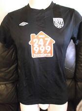 West Bromwich Albion FC Black Away 2010/11 Shirt. Size 14 Ladies.