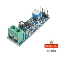 LM386 Audio Amplifier Module 200 Times 5V-12V Input 10K Variable Resistor NEW