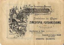 Stampa antica pubblicità RANZINI incisioni Milano 1899 Old antique print