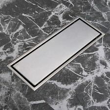 Stainless Steel Invisible Linear Shower Floor Drain Wetroom Grate 30 x 11cm