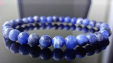 "Genuine Blue Sodalite Bead Bracelet for Men or Women (Stretch) 6mm - 7.5"" inch"