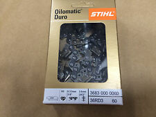 New original Stihl Duro carbide chain 3/8  16 inch 60 links 1.6 mm 36830000060