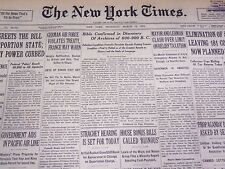 1935 MARCH 14 NEW YORK TIMES - ARCHIVES OF 600-900 BC DISCOVERED - NT 3819