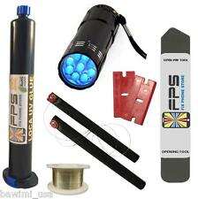 FLASHLIGHT UV + LOCA UV GLUE 50ml + OPENING TOOL GLASS REPAIR Samsung Iphone HTC