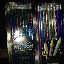 Vintage Pentech FIREWORKS!Flying Colors Pencils fresh from Pkg.Real Wood Pentech