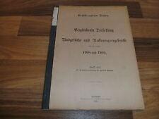 Großherzogtum Baden: vergleichende Darstellung Budgetsätze+Rechnungs. 1908+1909
