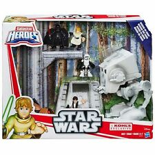 STAR WARS GALACTIC HEROES MISSION ON ENDOR AT-ST, HAN, LUKE, VADER PLAYSKOOL SET